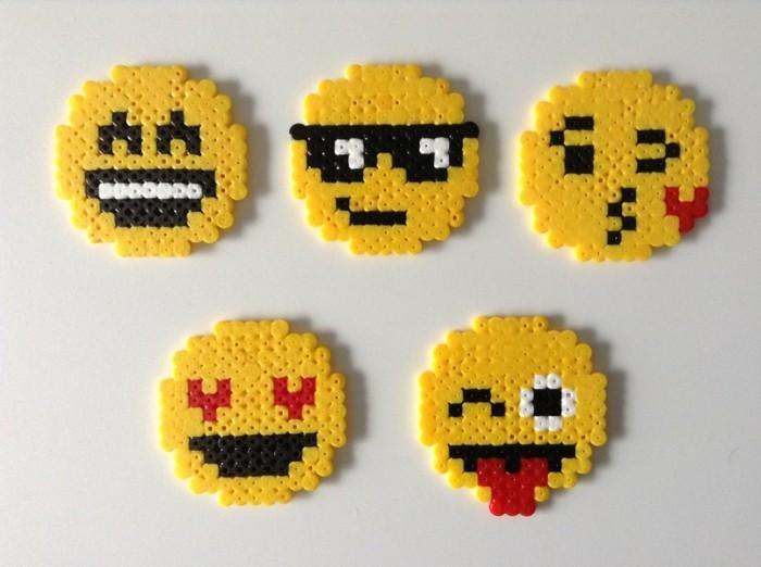 emojis selber machen basteln mit bügelperlen