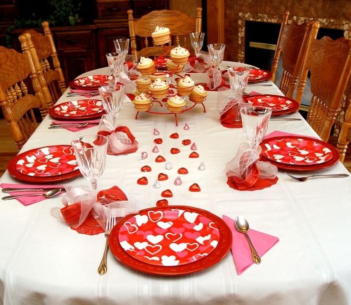 esstisch deko rieren festtafel valentinstag schönes geschirr