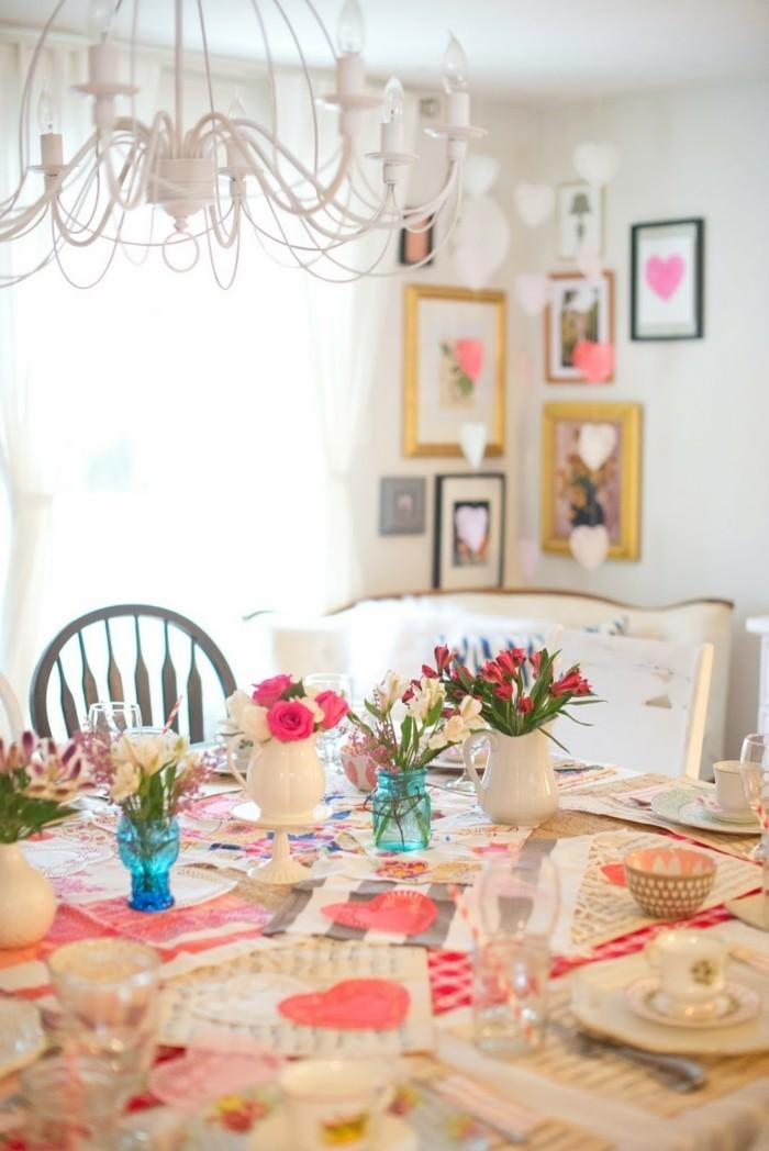 esstisch dekorieren valentinstag romantisch frisch