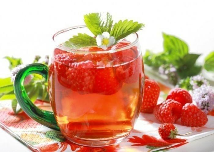früchtetee gesund erdbeeren himbeeren tipps zum abnehmen