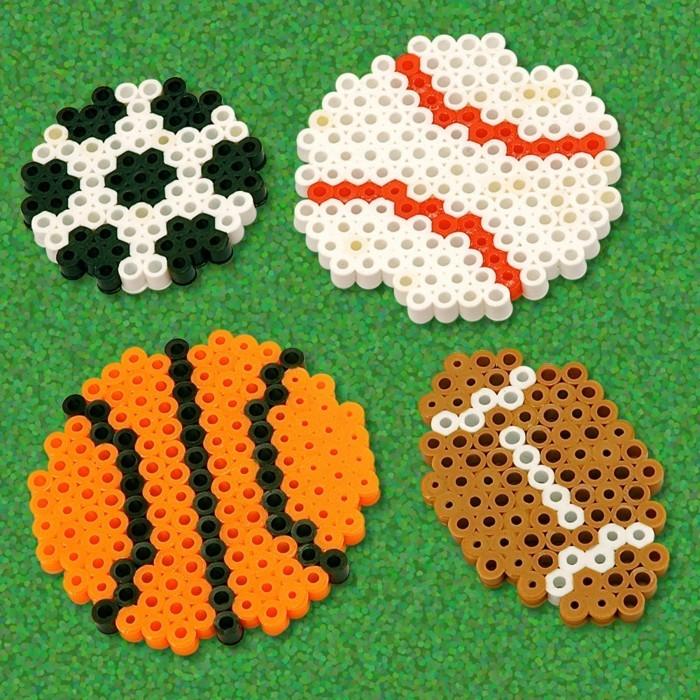 fußball basketball bastelideen basteln mit bügelperlen