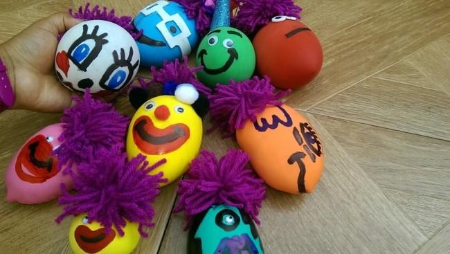 garn ballons mehl anti stressball selber machen für kinder