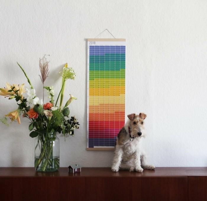 geburtstagskalender basteln kalender diy ideen einfach bunt