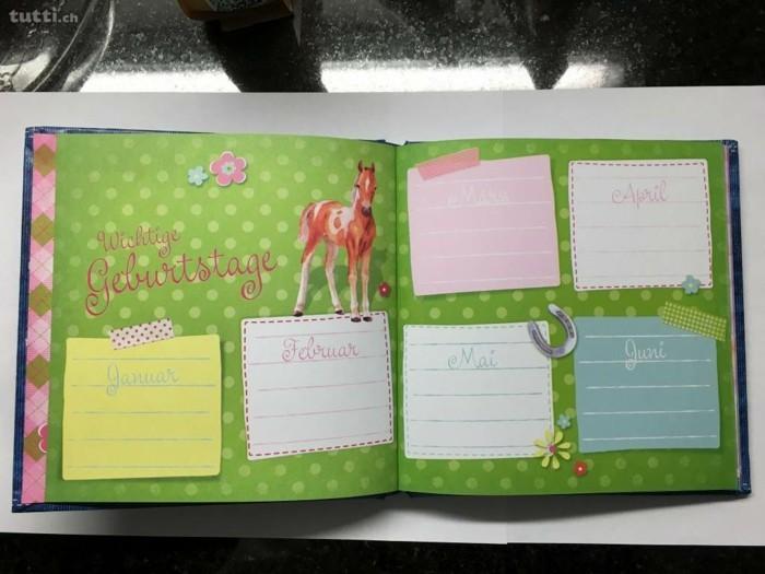 geburtstagskalender basteln kalender diy ideen einfach pferde