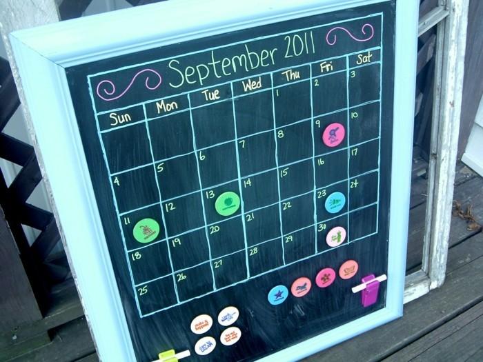 geburtstagskalender basteln mit kinder kalender selber machen magnettafel