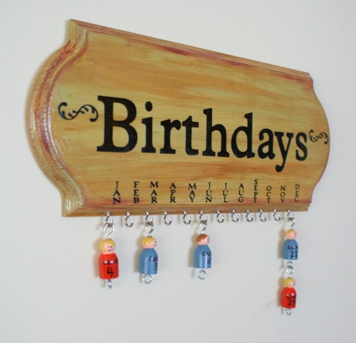 geburtstagskalender basteln mit kinder kalender selber machen