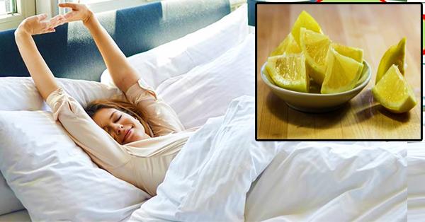 gesund schlafen tipps zitrone im schlafzimmer