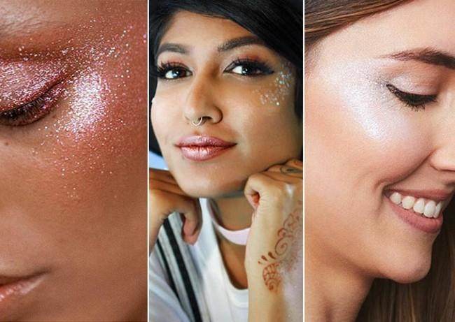 glitter make up ideen schminken fasching karneval