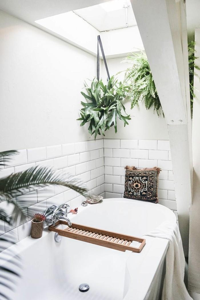 gruene zimmerpflanzen bad gestalten badewanne