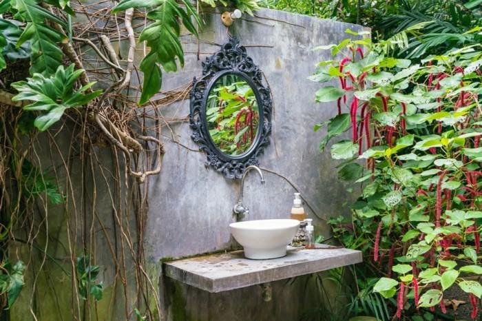 gruene pflanzen badezimmer gestalten feuchtigkeit