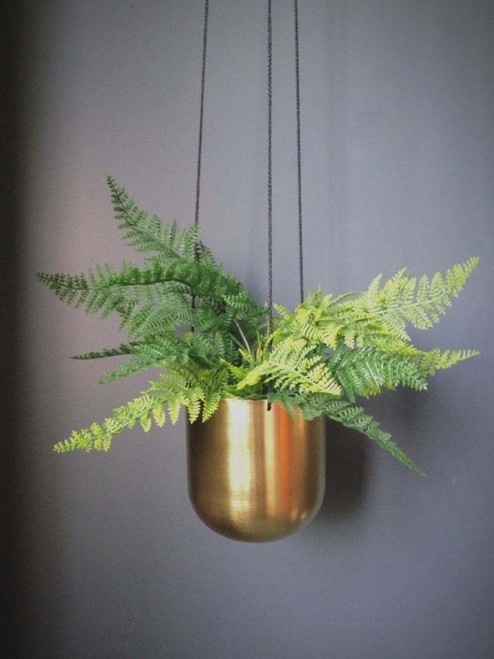 gruene pflanzen badezimmer gestalten haengende pflanzen