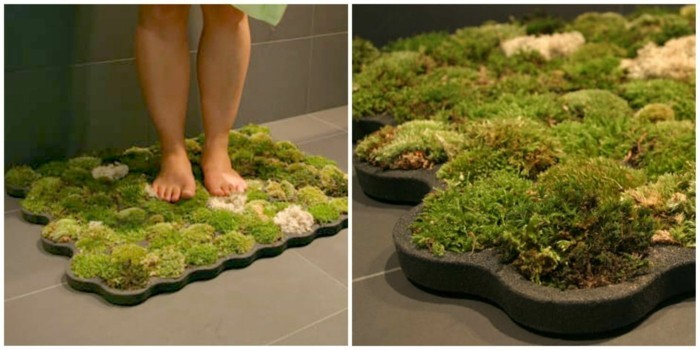 gruene pflanzen badezimmer gestalten moos