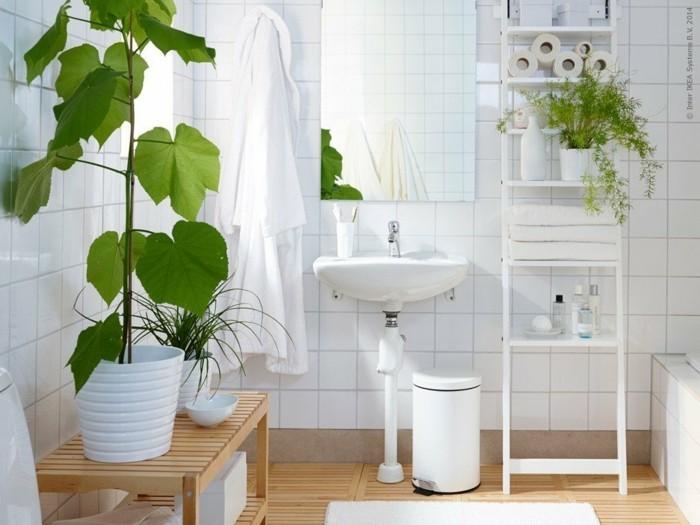 gruene zimmerpflanzen badezimmer gestalten pflanzenkuebel