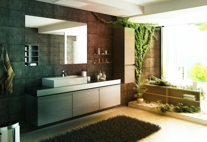 gruene zimmerpflanzen bad gestalten moderne wohnung