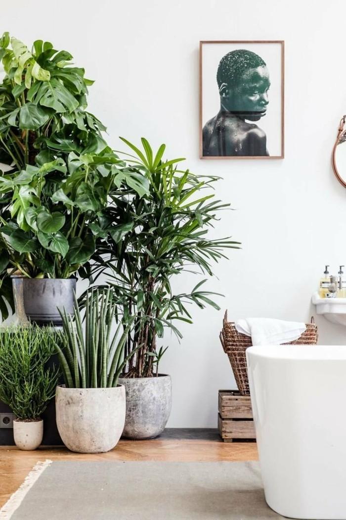 gruene pflanzen badezimmer gestalten zimmer