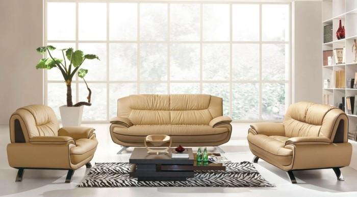 helles beige designer sofa