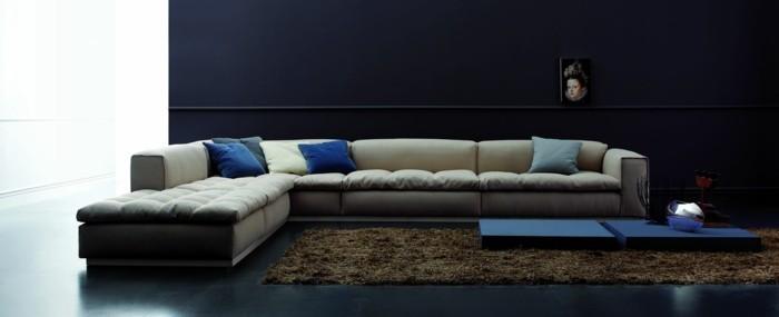 hellgrau designer sofa