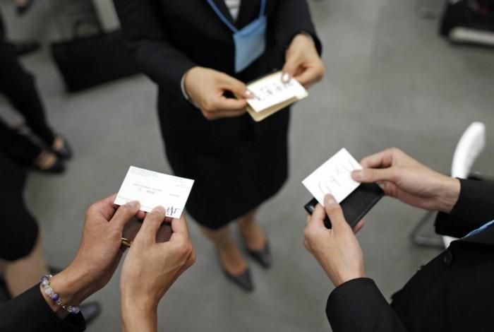 interkulturell visitenkarten austauschen