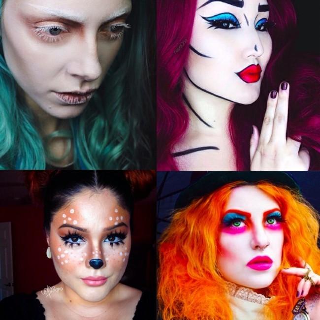 karneval make up ideen schminken fasching