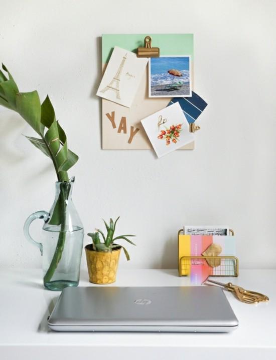 klemmbrett benutzen f r ihre kreative wanddeko ideen. Black Bedroom Furniture Sets. Home Design Ideas