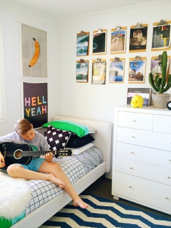 Klemmbrett benutzen f r ihre kreative wanddeko ideen for Jugendzimmer selbst dekorieren