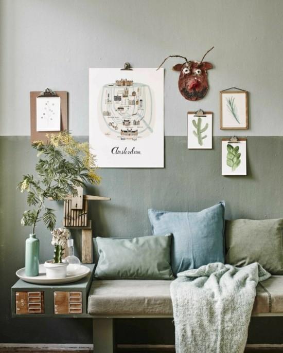 klemmbrett wohnzimmer wanndeko ideen