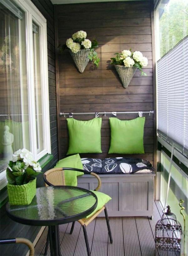 kontrast zwischen grün und grau Balkon Garten