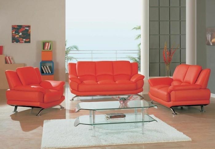 leder rot designer sofa