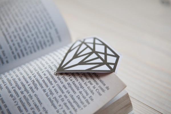 lesezeichen basteln diamant lesezeichen selber machen