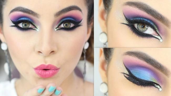 make up fortgeschrittene ideen schminken fasching karneval