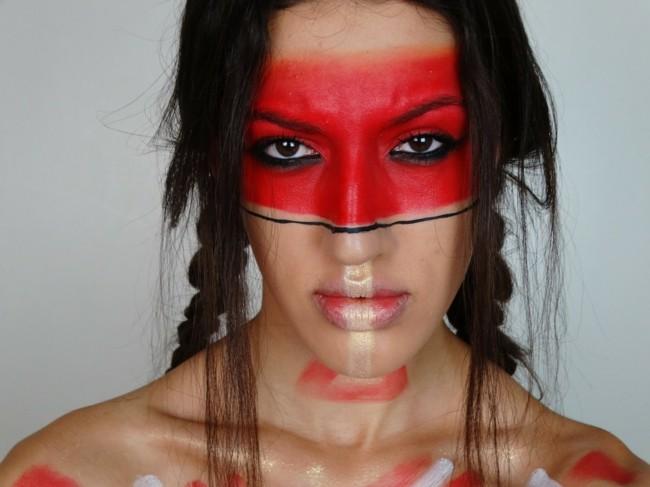 make up ideen indianering schminken fasching karneval