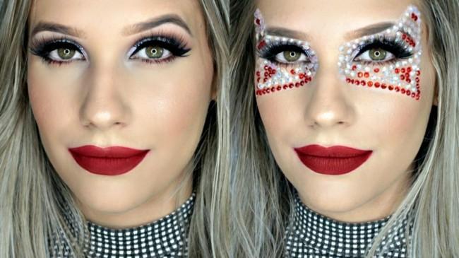make up ideen karneval schminken fasching