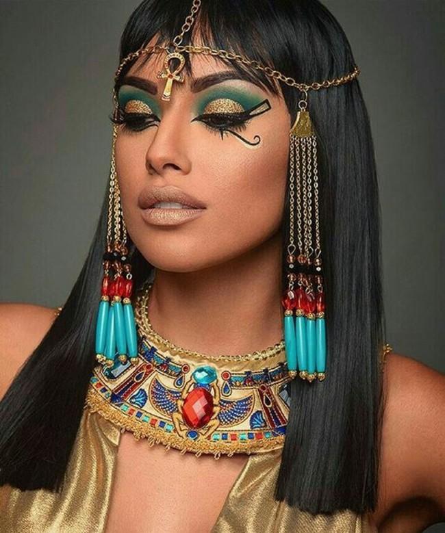 make up schmink ideen karneval kleopatra schminken fasching