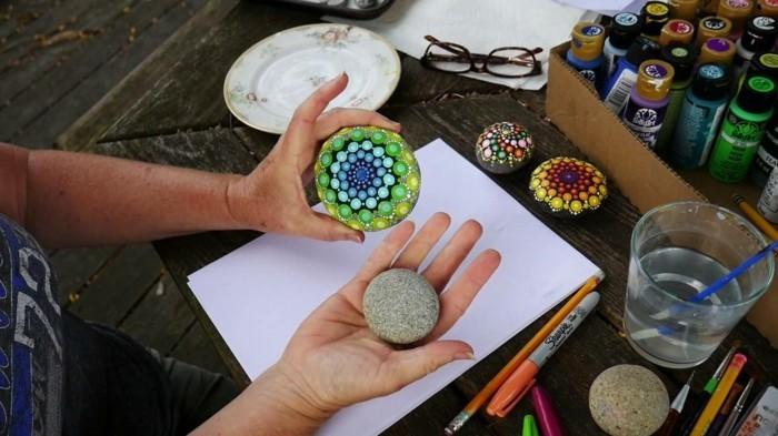 manala muster steine bemalen basteln mit naturmaterialien bevor nachher