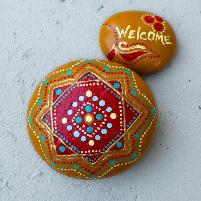 manala muster steine bemalen basteln mit naturmaterialien deko ideen
