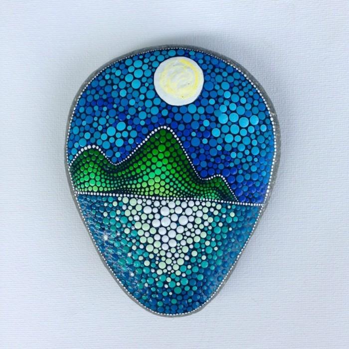 manala muster steine bemalen basteln mit naturmaterialien punkte