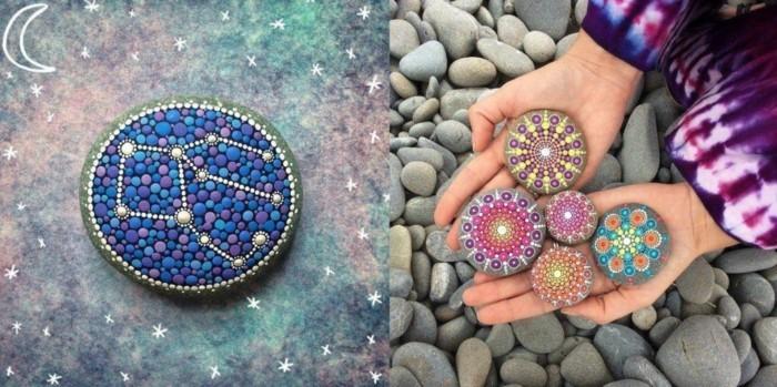 manala muster steine bemalen basteln mit naturmaterialien