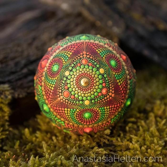 manala muster steine bemalen baum des lebens gruen