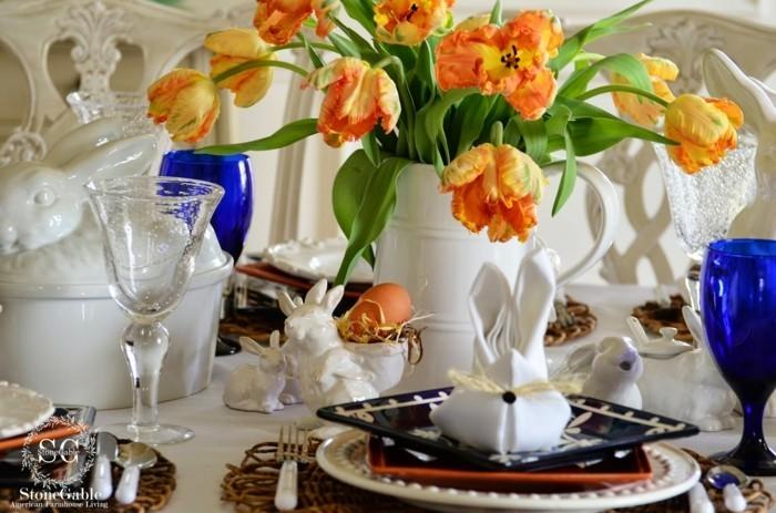 servietten falten und osterhasen basteln mit einer anleitung klappt s garantiert. Black Bedroom Furniture Sets. Home Design Ideas