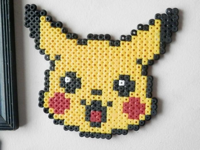 pikachu pokemon vorlage basteln mit bügelperlen