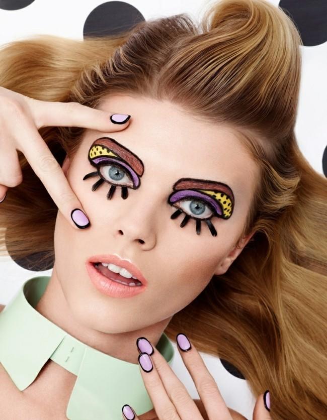 puppe make up ideen karneval schminken fasching