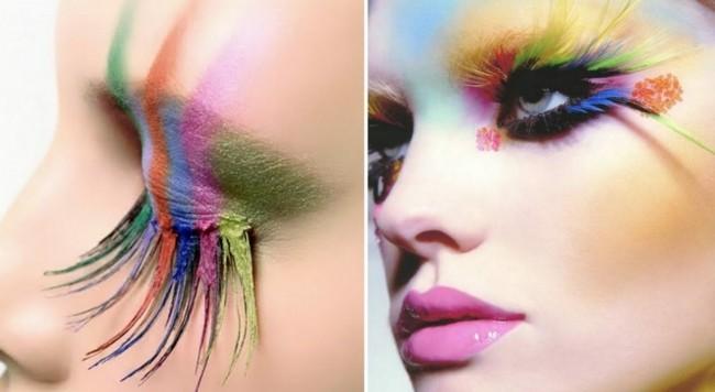 regenbogen make up ideen schminken fasching