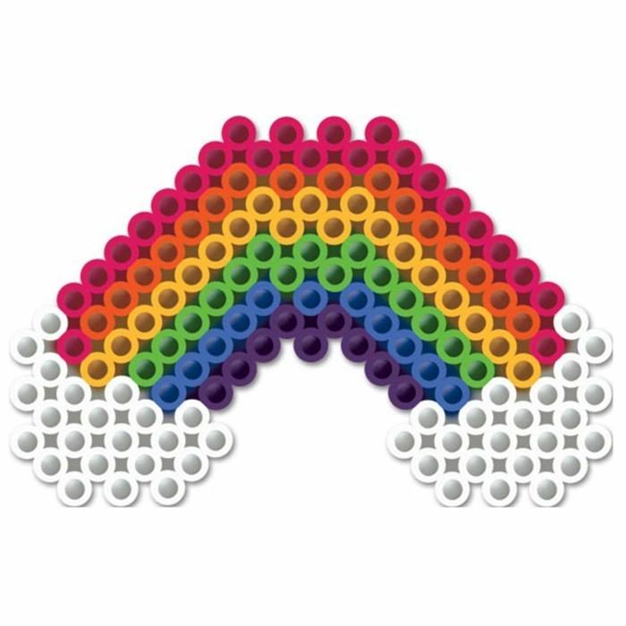 regenbogen vorlage basteln mit bügelperlen