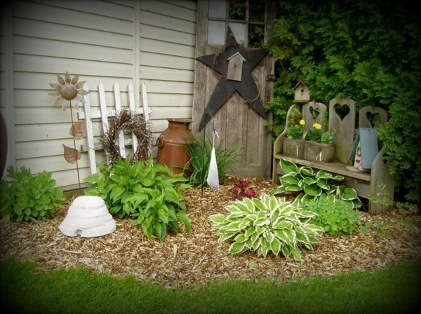 Rustikale Deko im Garten - 35 reizvolle Ideen für mehr Natürlichkeit ...