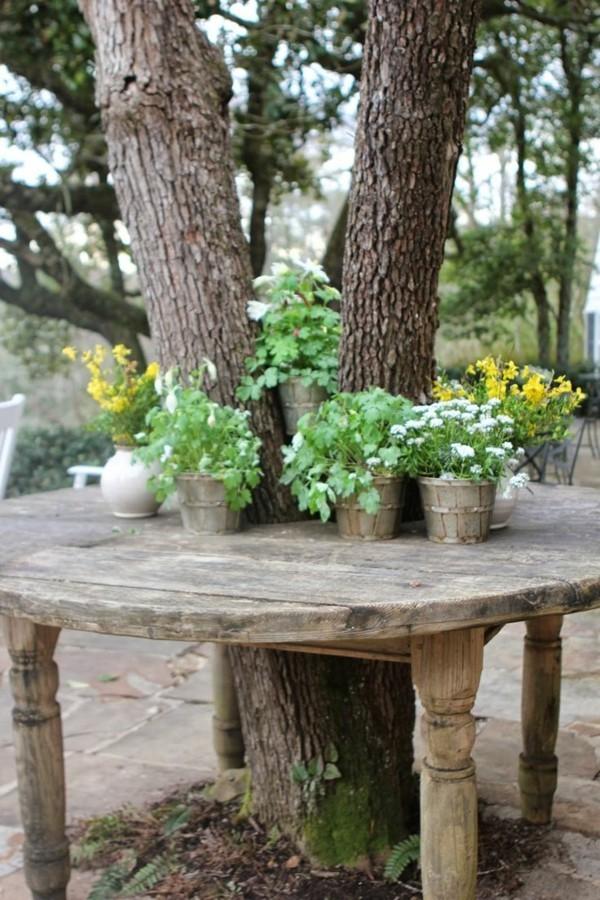 Rustikale deko im garten 35 reizvolle ideen f r mehr for Pflanzen deko garten