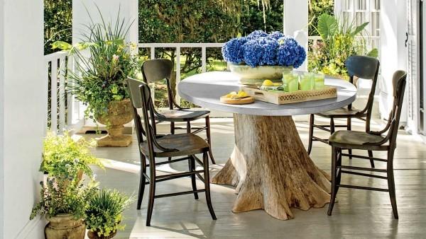 Rustikale deko im garten 35 reizvolle ideen f r mehr - Gartentisch dekorieren ...