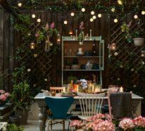 Rustikale Deko im Garten – 35 reizvolle Ideen für mehr Natürlichkeit und Gemütlichkeit