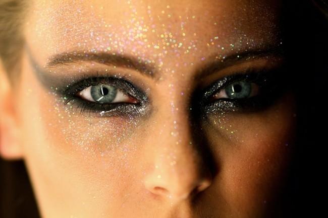 schimmer make up ideen schminken fasching karneval