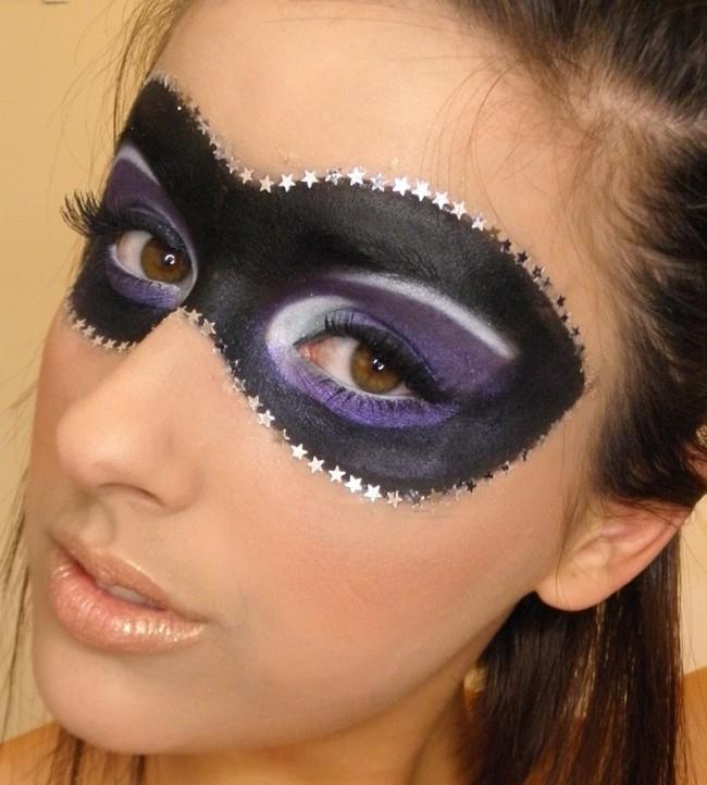 schminken fasching domino maske make up ideen karneval
