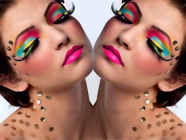 schminken fasching karneval make up ideen